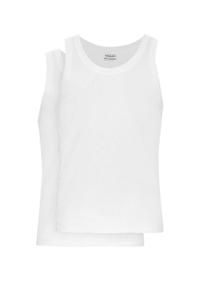 Dolce & Gabbana - Set Of Two Cotton Jersey Vests - Mens - White