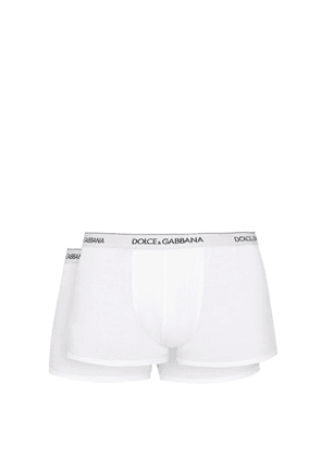 Dolce & Gabbana - Set Of Two Logo Embroidered Boxer Trunks - Mens - White