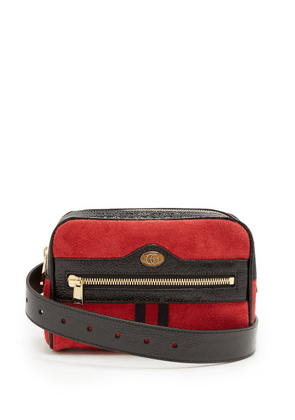 Gucci - Ophidia Suede Belt Bag - Womens - Red Multi