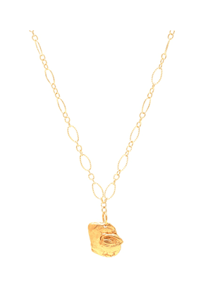 The Stranger And The Sleepwalker 24kt gold-plated necklace with pearl
