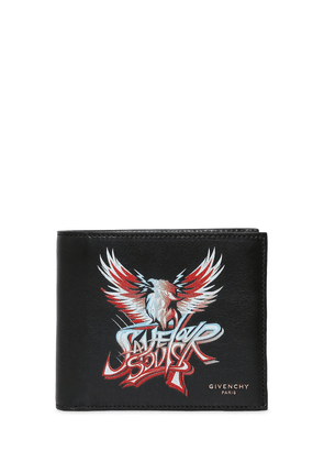 Save Our Souls Print Leather Wallet