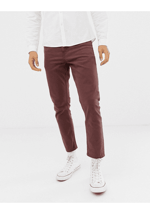 New Look cropped slim jeans in rust