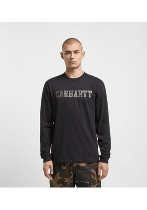Carhartt WIP College Long Sleeved T-Shirt, Black