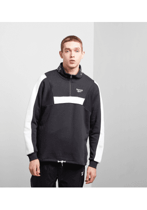 Reebok Half Zip Fleece Sweatshirt, Black