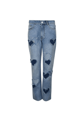 ASHLEY WILLIAMS Melrose Distressed Heart Jeans