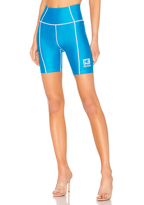 DANIELLE GUIZIO Bike Short in Blue. Size S,L.