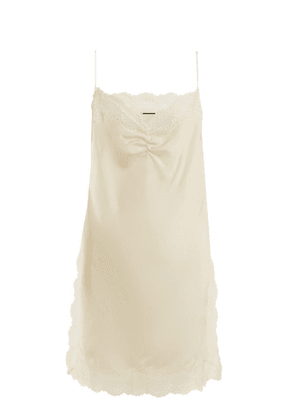 Gucci - Floral Lace Detailed Silk Cami - Womens - Ivory