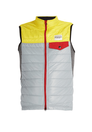 Café Du Cycliste - Albertine Quilted Gilet - Mens - Grey Multi