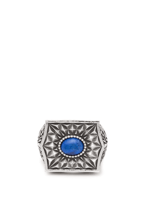 Emanuele Bicocchi - Sovereign Stone Sterling Silver Ring - Mens - Silver