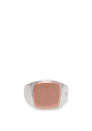 Tom Wood - Rose Gold And Sterling Silver Signet Ring - Mens - Silver