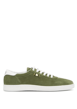 Aprix - Suede Low Top Trainers - Mens - Green
