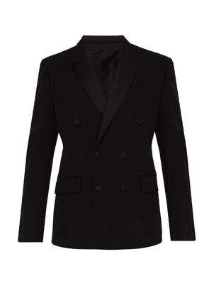 Connolly - Double Breasted Smoking Jacket - Mens - Black