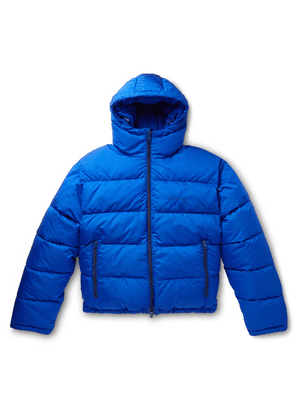 Balenciaga - Slim-fit Quilted Padded Ripstop Hooded Jacket - Blue