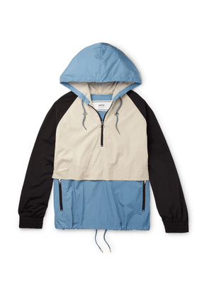 AMI - Colour-block Shell Hooded Jacket - Multi