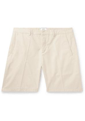 AMI - Slim-fit Cotton-twill Bermuda Shorts - Cream