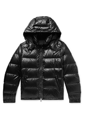 Valentino - Rockstud Quilted Shell Hooded Down Jacket - Black