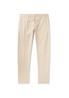AMI - Tapered Cotton-twill Trousers - Off-white