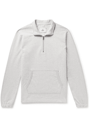 Reigning Champ - Loopback Cotton-jersey Half-zip Sweatshirt - Light gray