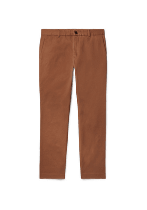 Gucci - Slim-fit Cotton-drill Trousers - Brown