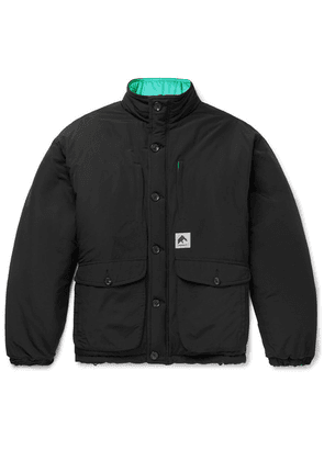 Flagstuff - Reversible Quilted Cotton-blend And Shell Jacket - Black