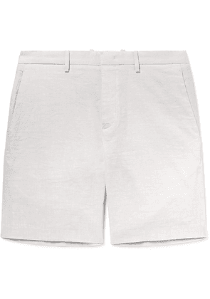 Theory - Curtis Slim-fit Tapered Stretch Linen-blend Shorts - Beige