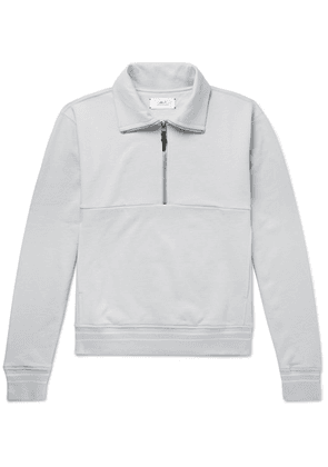 Mr P. - Loopback Cotton-jersey Half-zip Sweatshirt - Gray