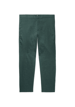 Theory - Curtis Slim-fit Stretch Linen-blend Trousers - Green