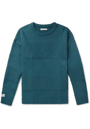 Flagstuff - Panelled Wool-blend Sweater - Teal