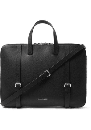 Alexander McQueen - Full-grain Leather Briefcase - Black