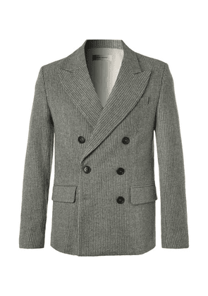 Isabel Marant - Anthracite Maxime Double-breasted Pinstriped Wool-blend Blazer - Gray