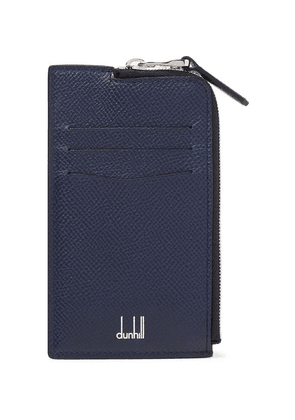 Dunhill - Cadogan Full-grain Leather Zip-around Cardholder - Navy