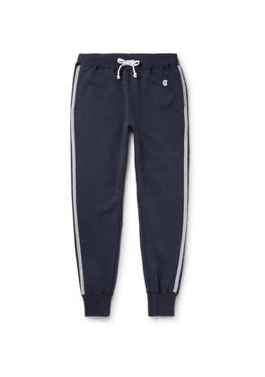 Kingsman - + Todd Snyder + Champion Harry's Slim-fit Tapered Striped Cotton-blend Jersey Sweatpants - Navy