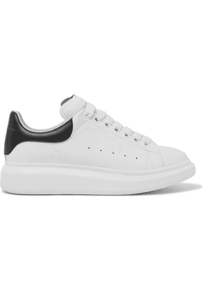 Alexander McQueen - Exaggerated-sole Leather Sneakers - White
