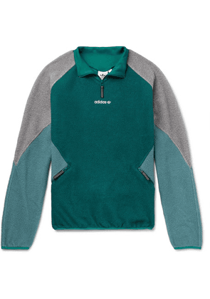 adidas Originals - Eqt Colour-block Fleece Half-zip Jacket - Emerald