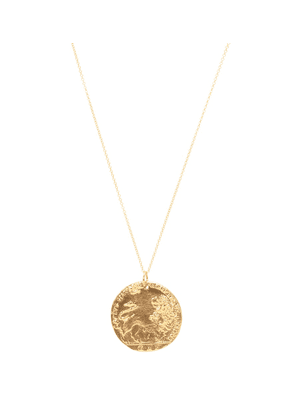 Il Leone 24kt gold-plated necklace