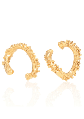 The Night Shift 24kt gold-plated earrings