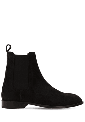 Suede Chelsea Boots W/ Elastic