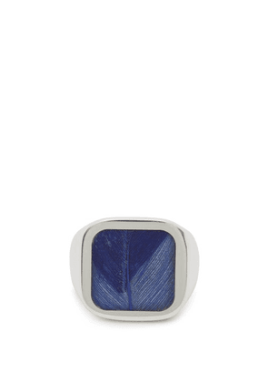Maison Margiela - Feather Plaque Silver Signet Ring - Mens - Silver