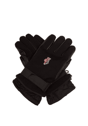 Moncler Grenoble - Twill And Leather Technical Ski Gloves - Mens - Black