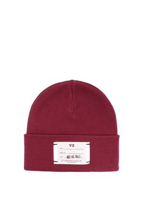 Y-3 - Logo Ribbed Cotton Beanie Hat - Mens - Red