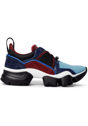 Givenchy - Jaw Neoprene, Suede, Leather And Mesh Sneakers - Blue