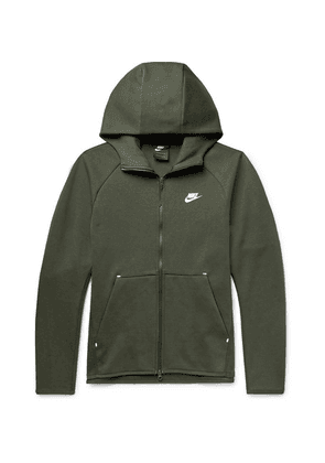 Nike - Sportswear Cotton-blend Tech-fleece Zip-up Hoodie - Dark green