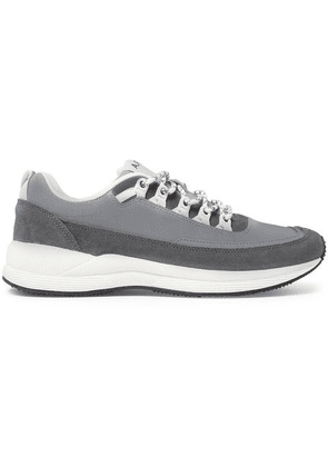 A.P.C. - Techno Homme Reflective-panelled Suede And Nylon Sneakers - Gray