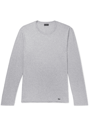 Hanro - Mélange Cotton-jersey T-shirt - Light gray