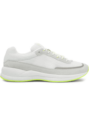 A.P.C. - Teenage Mary Reflective-trimmed Mesh And Suede Sneakers - White