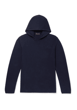 Altea - Ribbed Cotton-blend Hoodie - Navy