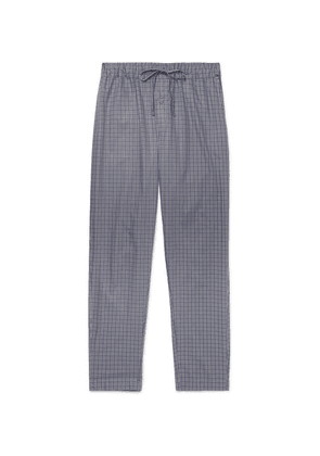 Hanro - Checked Cotton Pyjama Trousers - Blue