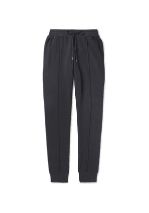 Hanro - Bruno Tapered Stretch Cotton-blend Piqué Sweatpants - Anthracite