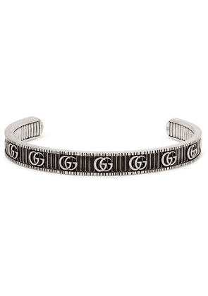 Gucci - Engraved Burnished Sterling Silver Cuff - Silver