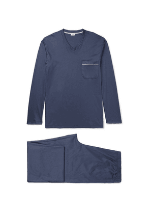 Zimmerli - Mercerised Cotton-jersey Pyjama Set - Navy